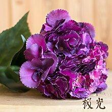 ZHUDJ Herbst Meer Hortensie Mehrfarbige Seide Blumen Dekoration Anstecker Künstliche Blumen Magic Coral, Aurora
