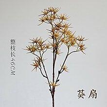 ZHUDJ Mancq Kontakt Niederlassungen Künstliche Pflanzen Künstliche Blume Persönlichkeit Alternative in Rustikal Eingerichtet Ist, Ventilator
