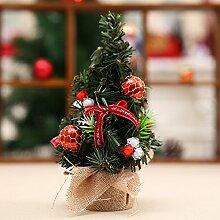 ZHUDJ Mini Weihnachtsbaum Kleine Desktop Für