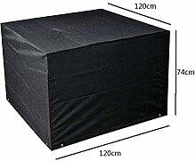 Zhuhaixmy 120*120*74cm Schwarz Garten Möbel Wasserdicht Hülle Schutz für Platz Würfel Tabelle Bank