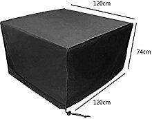 Zhuhaixmy 120*120*74cm Schwarz Tabelle Sessel Lagerung Möbel Hülle für Wasserdicht Draussen Garten Terrasse