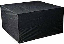 Zhuhaixmy 126*123*74cm Schwarz Tabelle Bank Würfel Möbel Set Deckung für Hülle Wasserdicht Draussen Terrasse