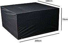 Zhuhaixmy 200*160*70cm Schwarz Garten Möbel Wasserdicht Hülle Schutz für Platz Würfel Tabelle Bank