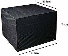 Zhuhaixmy 213*132*74cm Schwarz Garten Möbel Wasserdicht Hülle Schutz für Platz Würfel Tabelle Bank