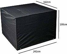 Zhuhaixmy 242*162*100cm Schwarz Garten Möbel Wasserdicht Hülle Schutz für Platz Würfel Tabelle Bank
