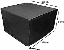 Zhuhaixmy 270*180*89cm Schwarz Tabelle Sessel Lagerung Möbel Hülle für Wasserdicht Draussen Garten Terrasse