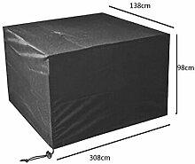 Zhuhaixmy 308*138*98cm Schwarz Garten Möbel Wasserdicht Hülle Schutz für Platz Würfel Tabelle Bank