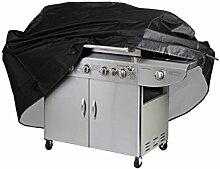 Zhuhaixmy M 100x60x150cm BBQ Grillabdeckung, Grill-Abdeckhaube Schutzhuelle Haube Wetterschutzabdeckung für Grill Smoke Barbecue Gasgrill Schwarz