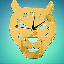 Zhuhaixmy Modern Stumm 3D DIY Clock Watch Sticker Wanduhr Uhr Spiegelfläche Aufkleber bell Home Office Art Decor Decoration Gold T#21