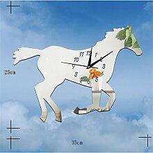 Zhuhaixmy Modern Stumm 3D DIY Clock Watch Sticker Wanduhr Uhr Spiegelfläche Aufkleber bell Art Decor Decoration Silver T#11