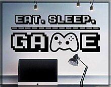 Zhuhuimin Eat Sleep Game Wandaufkleber Xbox PS4