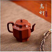 Zhuni GMXCC Teekanne mit hohem Rippenmuster, Ro