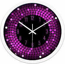 ZHUNSHI KTV Bar Restaurant kreative Uhr Raum Stille Uhren der modernen Mode nach Hause bunte Uhr,12 Zoll,CH196 weiße box