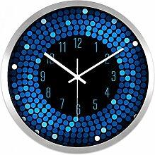 ZHUNSHI KTV Bar Restaurant kreative Uhr Raum Stille Uhren der modernen Mode nach Hause bunte Uhr,12 Zoll,CH194 Silver box