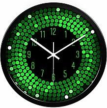 ZHUNSHI KTV Bar Restaurant kreative Uhr Raum Stille Uhren der modernen Mode nach Hause bunte Uhr,14 Zoll,CH195-Black-box