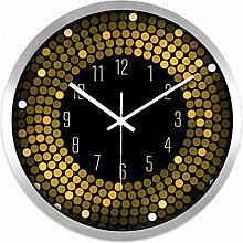 ZHUNSHI KTV Bar Restaurant kreative Uhr Raum Stille Uhren der modernen Mode nach Hause bunte Uhr,12 Zoll,CH193 Silver box
