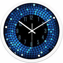 ZHUNSHI KTV Bar Restaurant kreative Uhr Raum Stille Uhren der modernen Mode nach Hause bunte Uhr,14 Zoll,CH194 weiße box