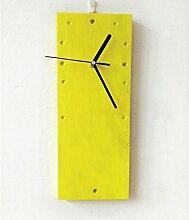 ZHUNSHI Wand-Farbe rechteckige Wand Uhr einfachen