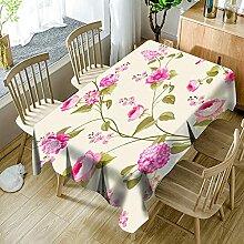zhuobu 3D Tischdecke Rechteck,Pflanze Rosa Blume