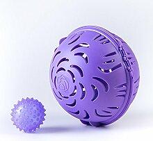zhuotop Anti Verzerrung Design-BH Waschen Ball Wäschekorb Displayschutzfolie Saver Box Reinigung Werkzeuge, violett, M