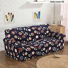 zhuotop schlichtes Design Tight Wrap four-seat Sofa Bezug, Polyester, Elastizität Strechhusse Sofa Duschtuch Gedruckt Cover 03