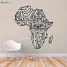 zhuziji Circuity Afrika Karte Wandaufkleber
