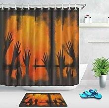 ZHWL6688 Grunge Fenster Scary Hand Shadow