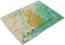 ZHX Tropische Pflanze Ananas Print Tischset