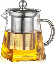 ZHZHUANG Gute Klares Glas-Teekanne Mit 304