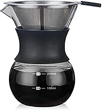 ZHZHUANG Handgebraute Kaffee Töpfe Hohe Glas