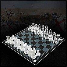 ZHZHUANG Schach Set Portable K9 Schachbrett Schach