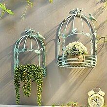 ZI LING SHOP- Amerikanisches Dorf Retro Eisen Caravan Wandmontage Blumenrahmen Blume Wand Dekorativ Regal Garten Garten Terrasse Outdoor Flower racks ( größe : Große )