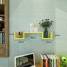 ZI LING SHOP- Regal Schlafzimmer Bücherregale Schlafzimmer Wandtrennwände Wandregale Einfach Shelf ( Farbe : Gelb )