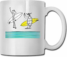 Ziege Turtle Surf Dating Fashion Kaffeetasse