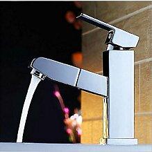 Ziehen All-Kupfer Küchenarmatur Einlochmontage Becken Mischwasserhahn Bad-Accessoires