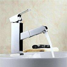 Ziehen Sie Bad Wasserhahn Einlochmontage