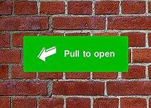Ziehen zu öffnen HSE Schild Gesundheit &
