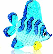 Glastiere Glasfigur Glasvogel Möwe mit Fisch weiß-schwarz Handarbeit Neu