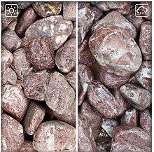 Zierkies 25/40 mm Rot Gartenkies Kies Kiesel