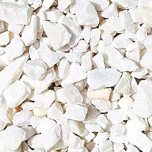 Zierkies Marmorkies ATTIKA gebrochen Marmor Splitt - Farbe wählbar (Weiß-Pastell)