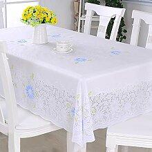ZIFEI PVC Lace Tischdecken, Einfarbige