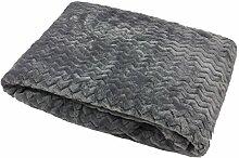 Zig Zag Chevron Silber Grau Super Soft Fleece