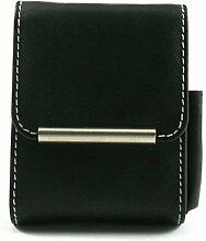 Zigarettenbox Big Pack 25er aus Leder in schwarz