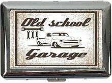Zigarettenetui Box Nostalgie Auto Retro Old-School-Garage Bedruck