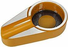 Zigarre Edelstahl Aschenbecher,portable 100% Metal