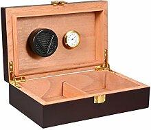 Zigarren Humidor, Volenx Tragbarer Reise Humidor mit Hygrometer Dunkel Braun für 10-15 Zigarren