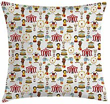 ZiJface Circus Throw Pillow Cushion Cover, Circus