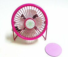ZIJIFAN 4 Zoll süße Frucht mini Ventilator student Kreativität Wassermelone PC-Lüfter Büro Schallgedämpfte maximale Ventilator, Rosa