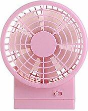 ZIJIFAN Kleine Lüfter usb-Ventilator Desktop Mini Ventilator 5 Zoll mute kleinen Ventilator, Rosa