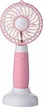ZIJIFAN Usb mini Ventilator handheld Dual Fan creative Desktop durchführen Kleiner tragbarer elektrischer Ventilator, Rosa